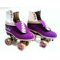 Purple Faux Suede Skates